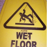 Batman Will Save You from the Wet Floor